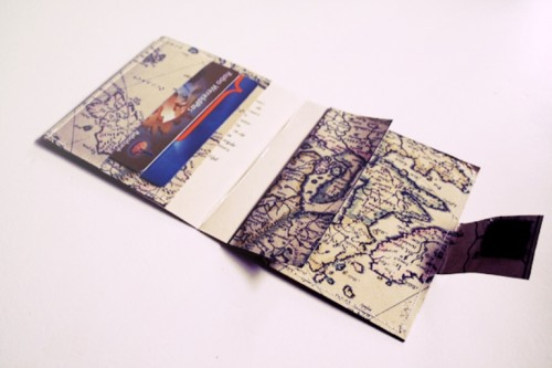 DIY vintage map wallet (via www.shelterness.com)