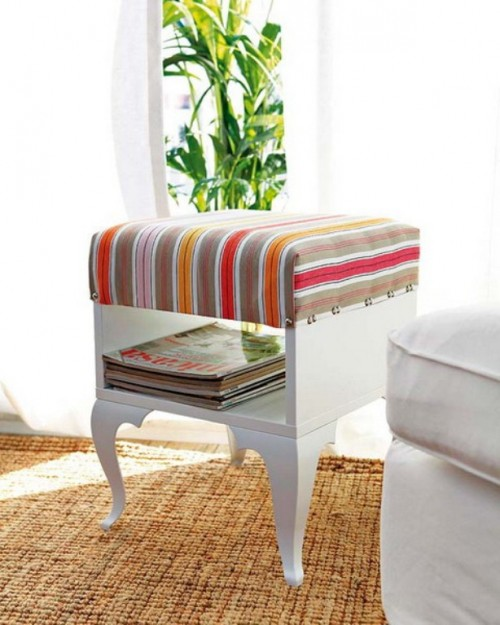 DIY Ikea Trolsta renovation into a table with pouf