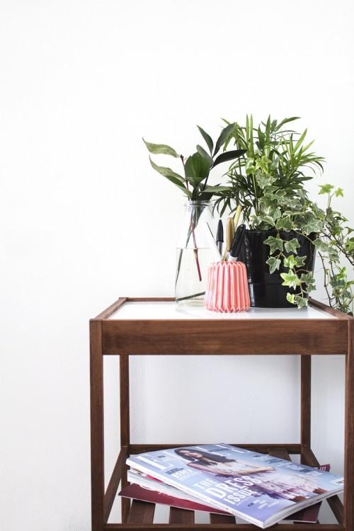 DIY Ikea Nesna bedside table hack