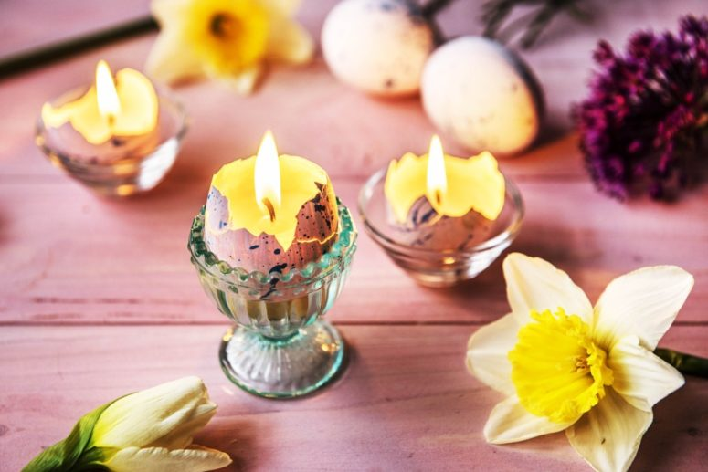 DIY Easter egg candles  (via https:)