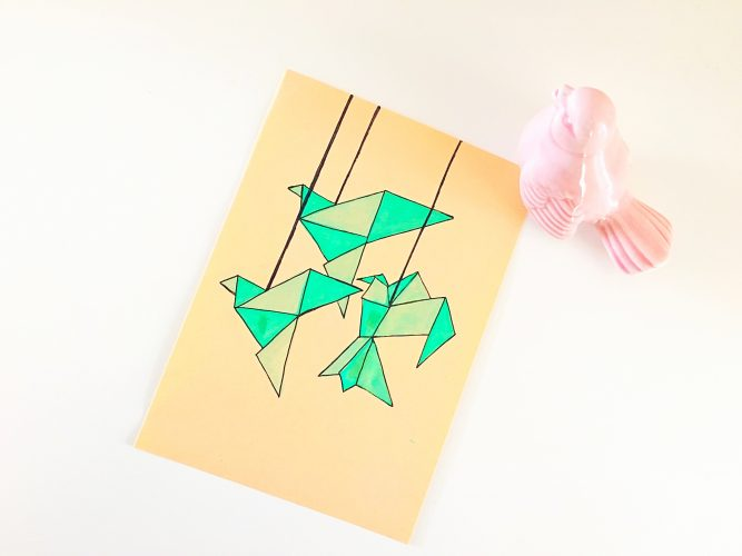 DIY origami styled Mother's Day card (via life-athon.com)