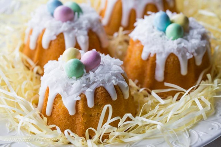 DIY mini coconut pound cakes (via www.savingdessert.com)