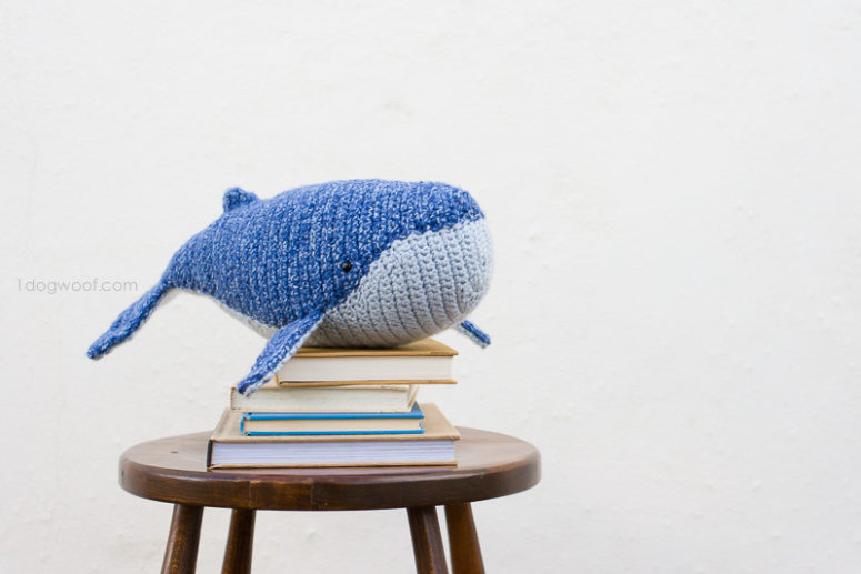 Baby Humpback Crochet Whale Free Pattern - One Dog Woof | 517x775