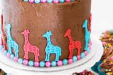 DIY triple chocolate gender reveal cake