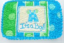 DIY boy's baby shower cake