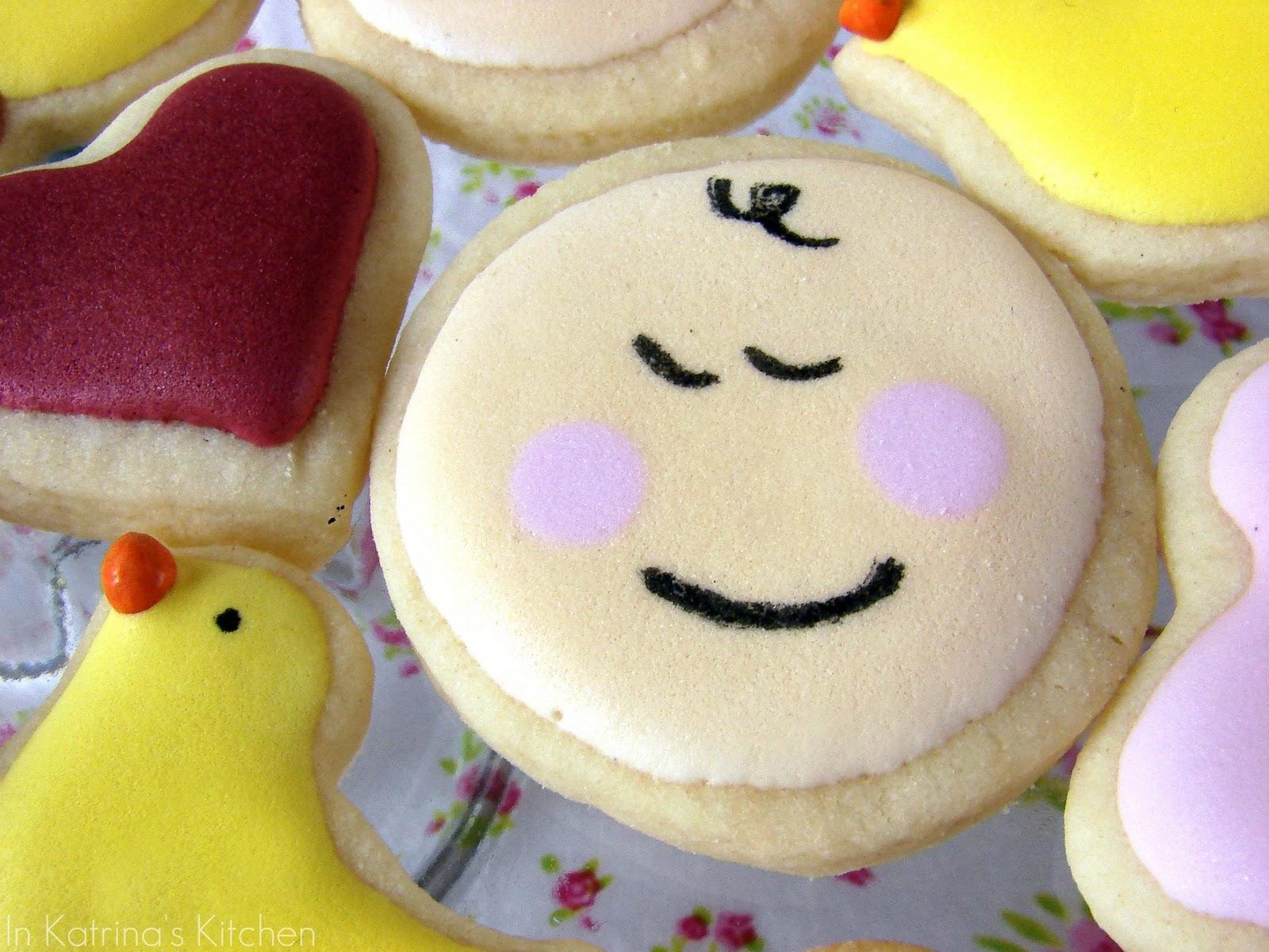 DIY baby face cookies