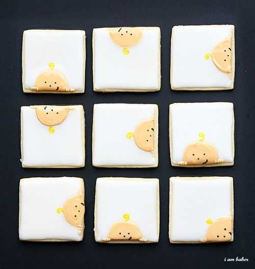DIY baby face with hands cookies (via iambaker.net)
