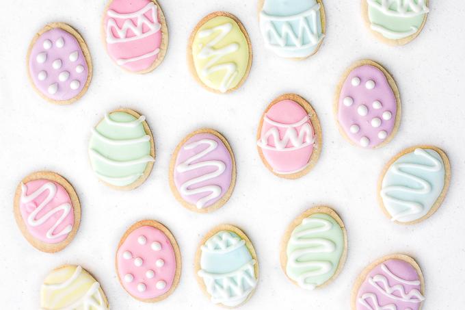DIY pastel sugar cookies for Easter