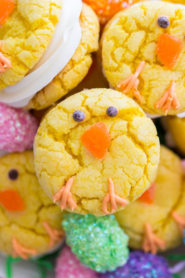 DIY lemon Easter chick cookies