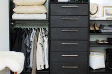 DIY Ikea Pax wardrobe and Rast dressers into a wardrobe