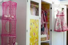 DIY Ikea kids' wardrobe from a cabinet