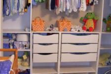 DIY Ikea Bill shelf into a wardrobe