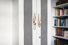 DIY Ikea aneboda wardrobe hack with bold fabric