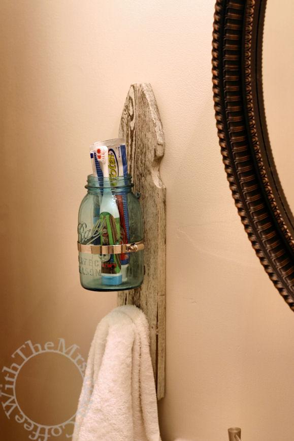 DIY wall toothbrush holder  (via www.amy-clary.com)