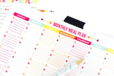 DIY monthly and weekly meal planner