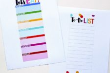 DIY laminated meal planner