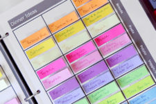 DIY menu planner