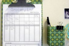 DIY healthy meal plan with a grocery list