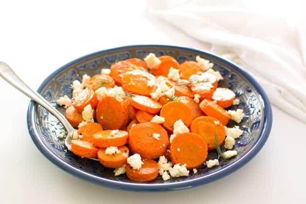 DIY roasted carrots with Feta cheese (via https:)