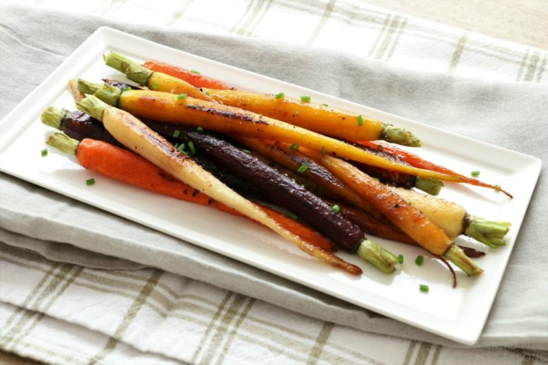 DIY pan roasted rainbow carrots (via www.asaladforallseasons.com)