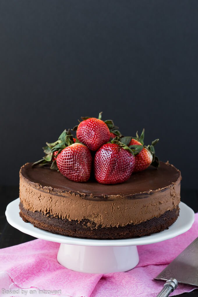 DIY triple chocolate mousse cake (via www.bakedbyanintrovert.com)