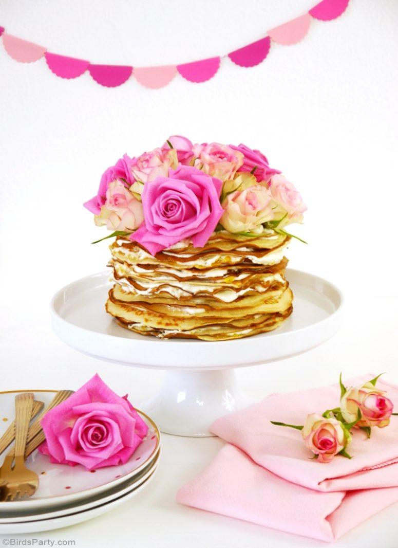 DIY crepe cake with mascarpone cream (via www.blog.birdsparty.com)
