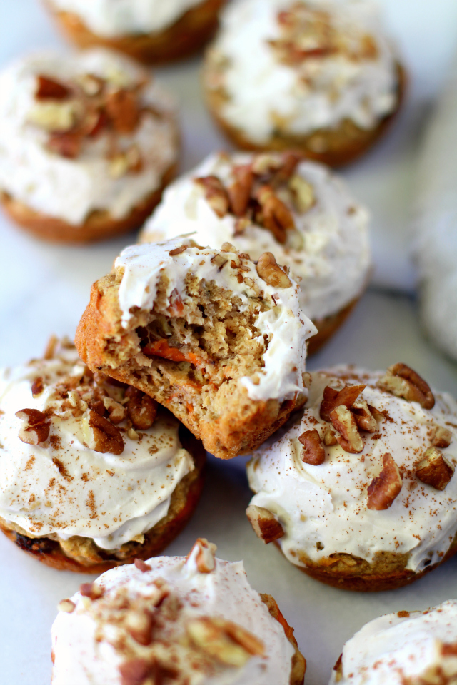 DIY gluten and dairy free paleo carrot cupcakes (via www.kimscravings.com)