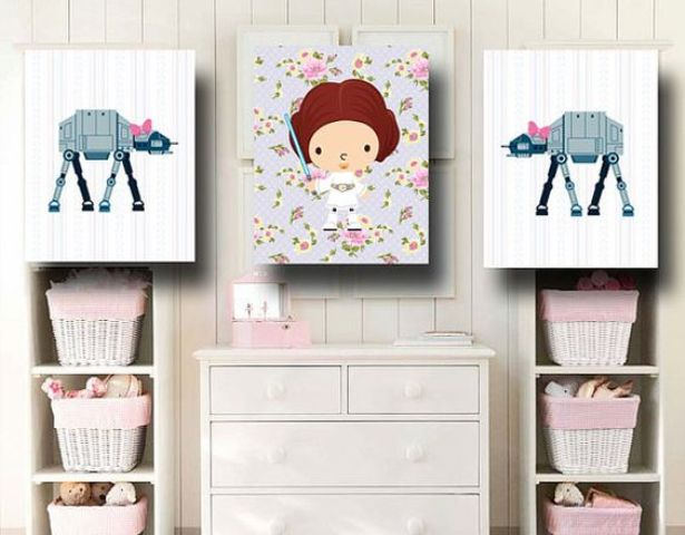 Star Wars baby nursery wall art