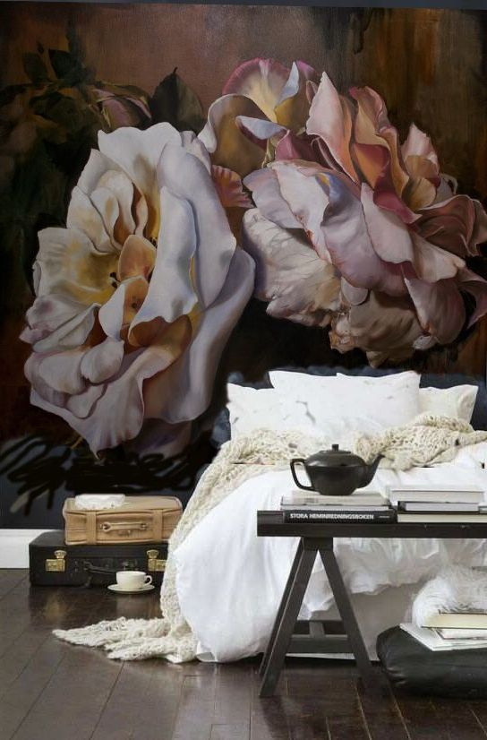 20 Super Trendy Moody Floral Wallpaper Ideas