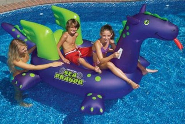 funny and colorful dinosaur floats for kids