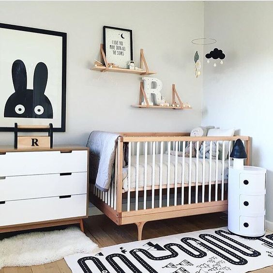 20 gender neutral nursery artwork ideas shelterness Scandinavian baby nursery