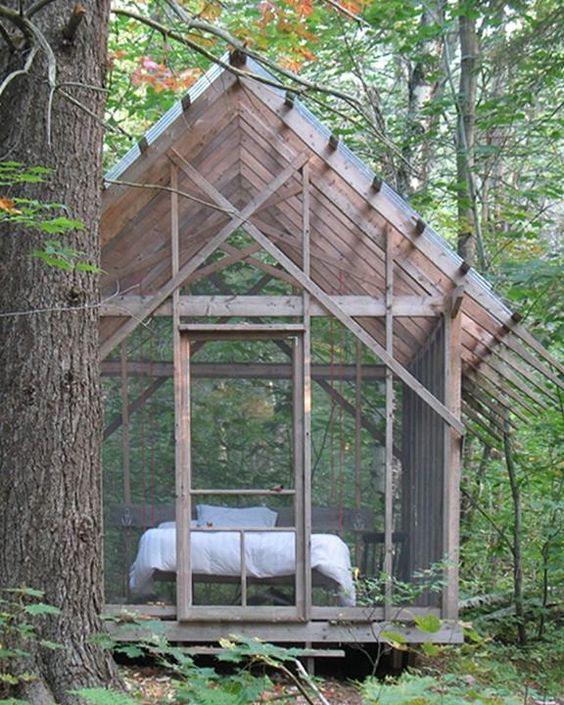a screened sleeping porch for summer naps and overnight guests