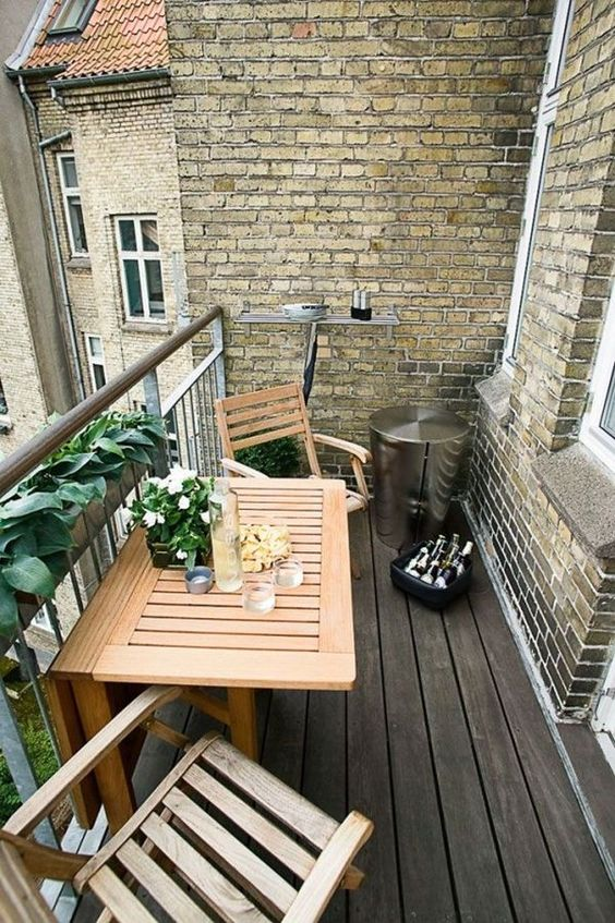 apartment balcony furniture. A Set Of Foldable Chairs And Table Wood Is Right What You Need For Apartment Balcony Furniture W