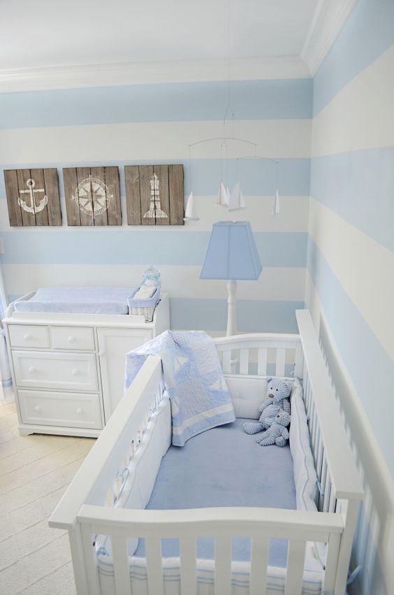 shabby blue nursery
