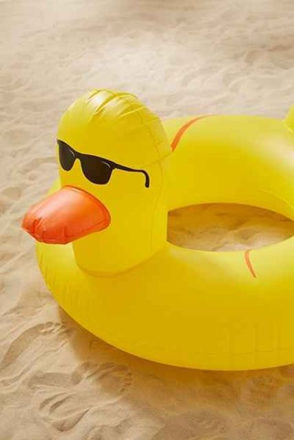 rubber duckie float for whimsy fun