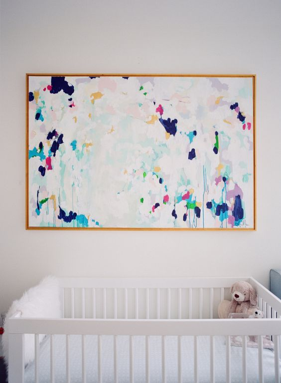 cute watercolor large scale wall art can be a perfect fit for any nursery