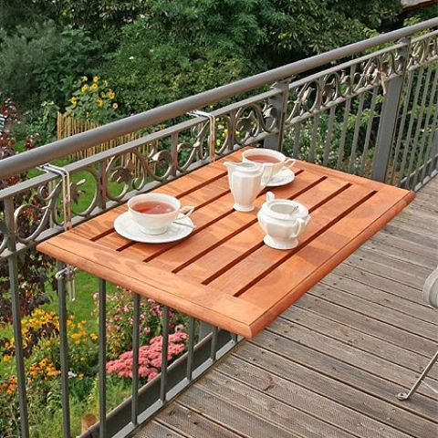 folding drink holder to attach in your balcony if there's little space