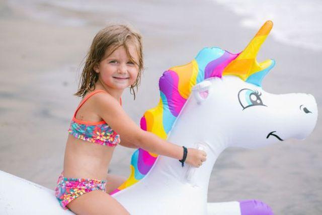 funny unicorn floatie for small children