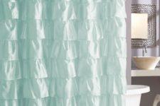 09 ruffled aqua-colred curtain inspired by sea waves