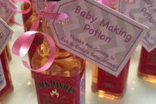 10 Jack Daniel's mini bottles with humorous tags