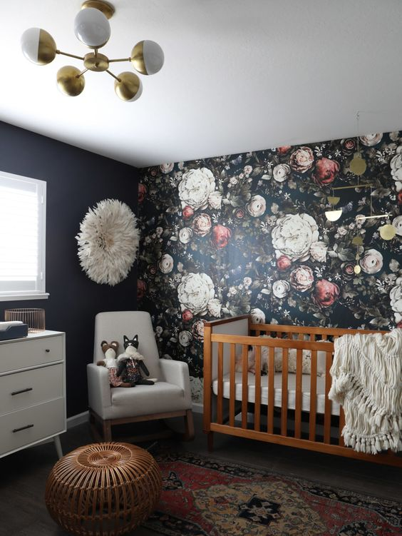 20 Super Trendy Moody Floral Wallpaper Ideas - Shelterness