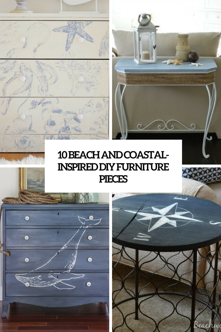 beach and coastal inspired diy furniture pieces cover