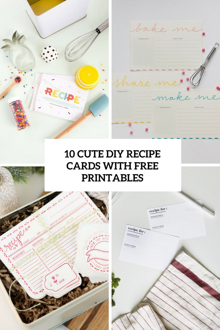 how to make recipe cards