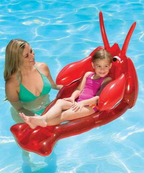 funny lobster float for small children