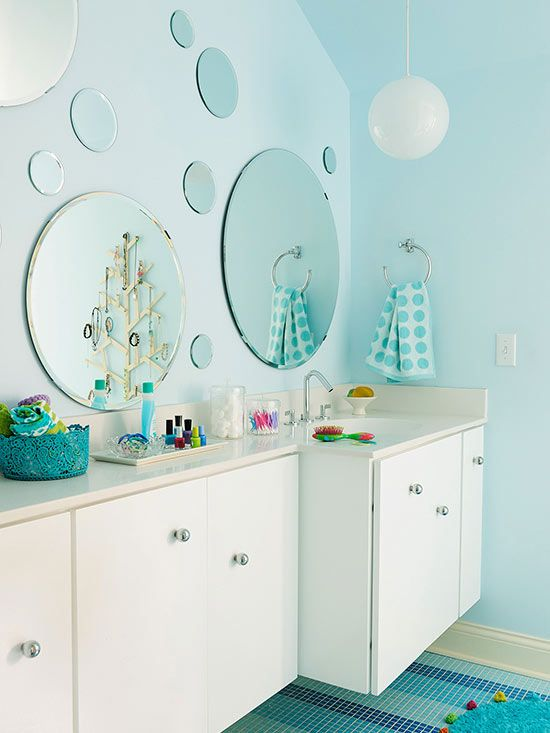 bubble mirrors inspired by the ocean ones