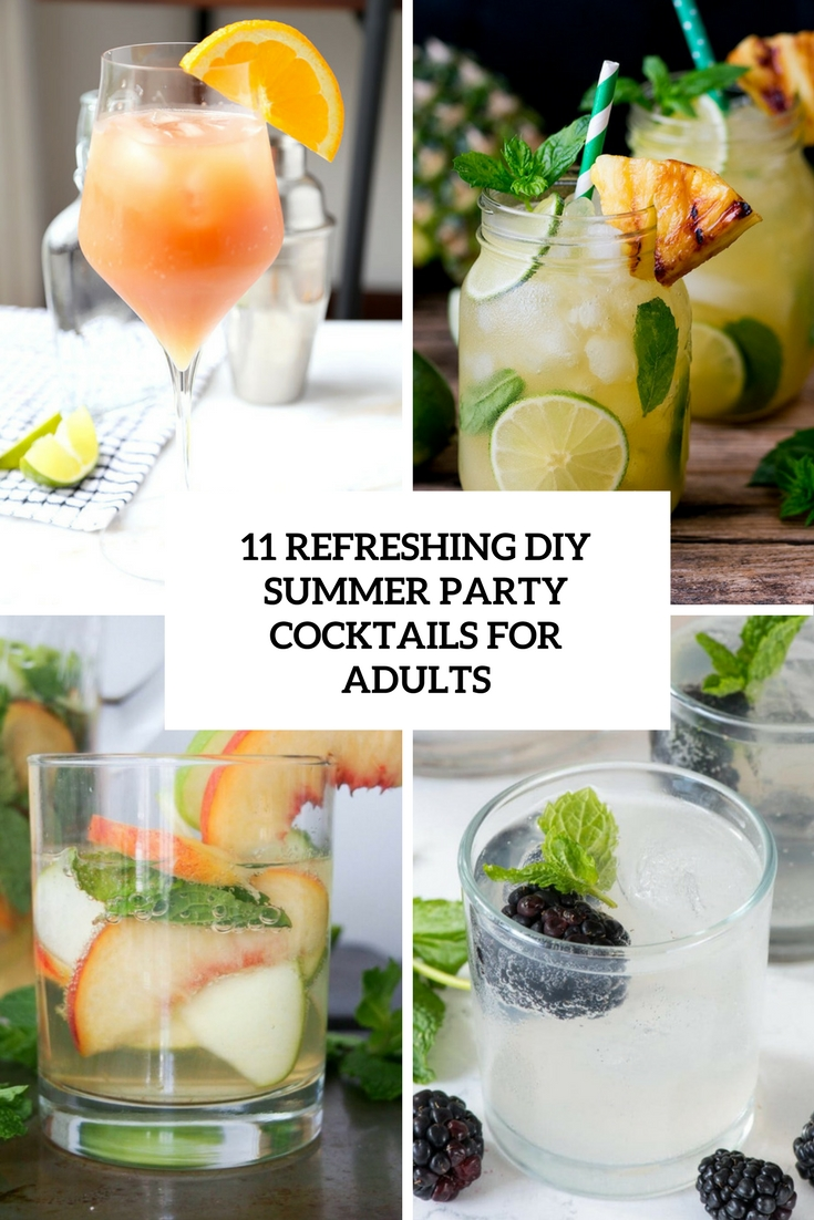 11 refreshing diy summer party cocktails for adults for Summer drinks for party
