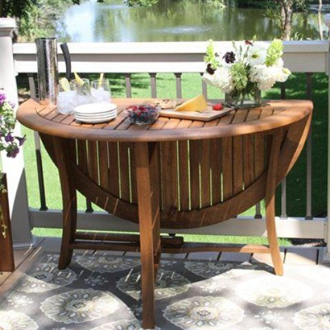 a comfy round folding table can accomodate a lot of guests if you need