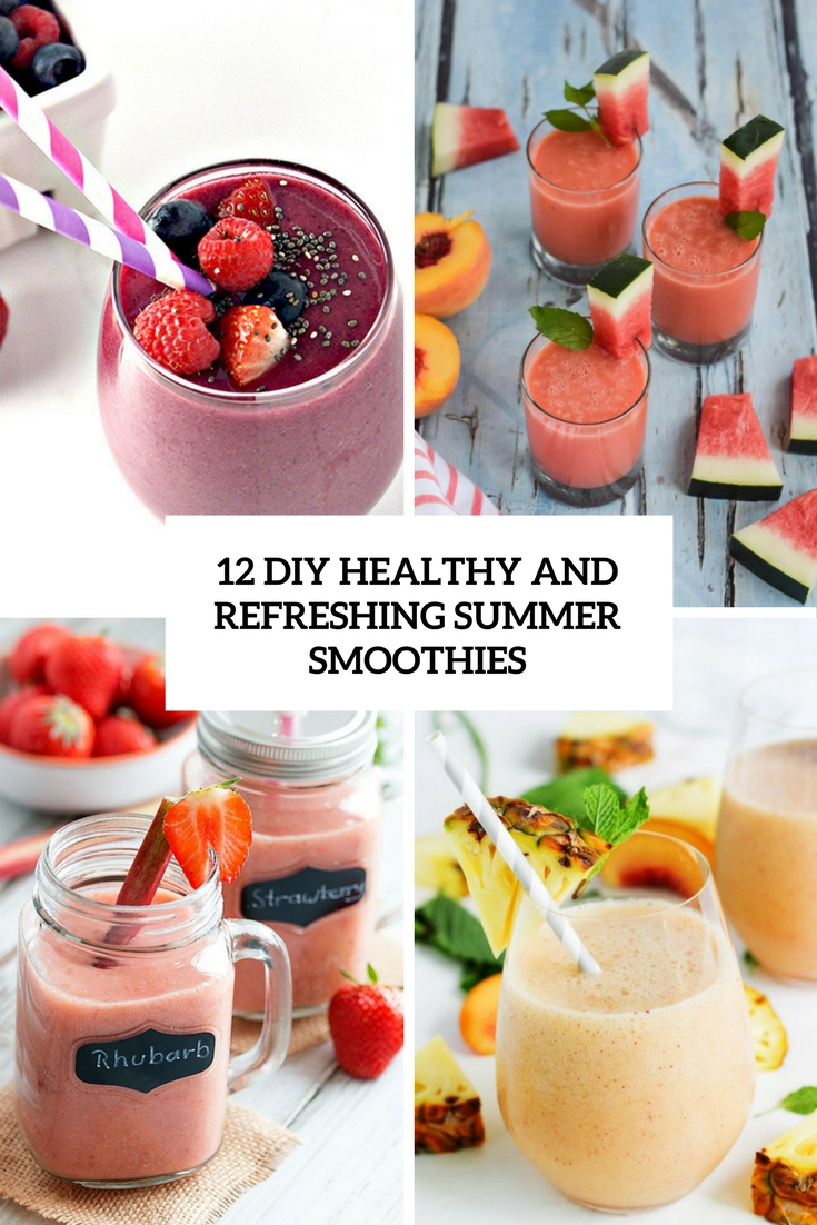 diy healthy and refreshing summer smoothies cover