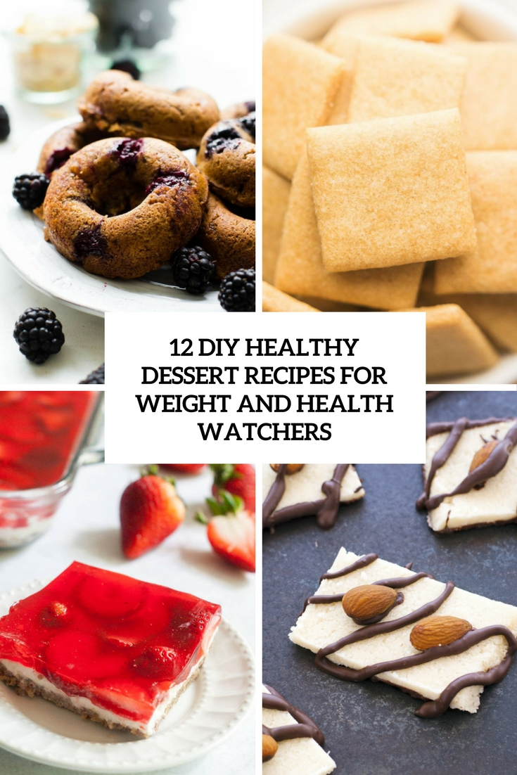 diy healthy dresserts for weight and health watchers cover