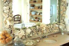 12 super lush shell and coral bathroom mirror frame wows